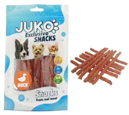 Obrázek JUKO SNACKS Duck & Sweet Potato stick 70 g