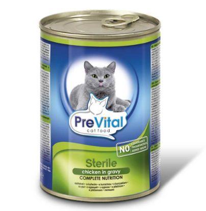 Obrázek PreVital kočka sterilní kuře, kousky 415 g