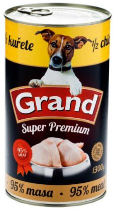 Obrázek GRAND Superpremium Dog kuřecí s 1/2 kuřete 1300 g