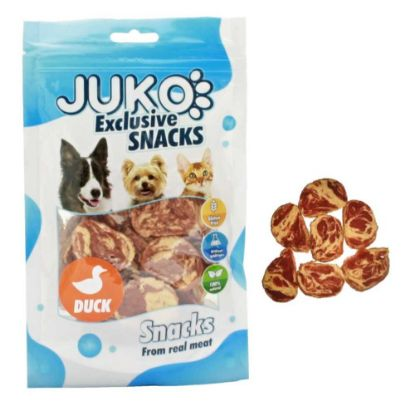 Obrázek JUKO SNACKS Duck & Codfish chips 70 g