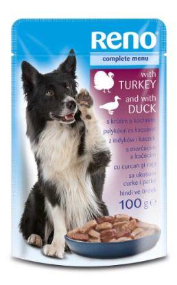Obrázek RENO Dog krůta a kachna, kapsa 100 g