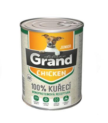 Obrázek Grand deluxe Dog Junior 100% kuřecí 400 g