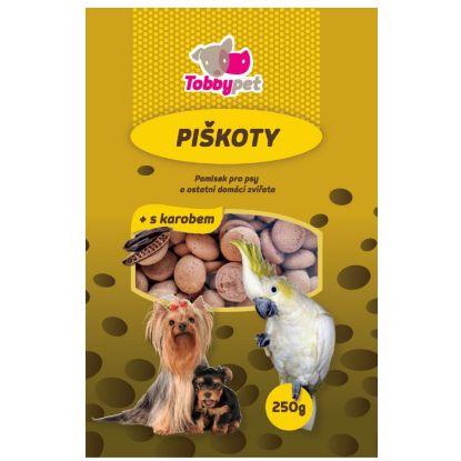 Obrázek Piškoty krmné s karobem Tobby 250 g