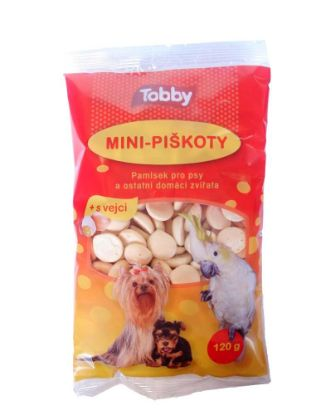 Obrázek Piškoty krmné mini Tobby 120 g