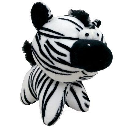 Obrázek Hračka pes - plyšová zebra pískací 12 cm