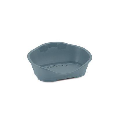 Obrázek Pelíšek plast 1 modro-šedá 56,5x42x24,2
