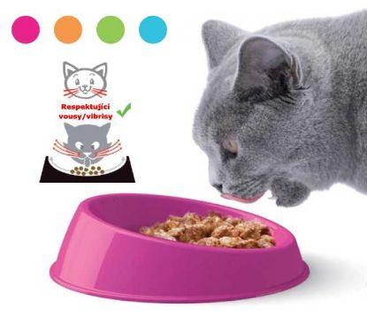 Obrázek Miska plast, kočka Vibrissa 19 x 5 cm