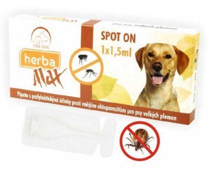 Obrázek Max Herba Spot-on Dog antiparazitní kapsle, pes do 25kg 1 x 1,5 ml