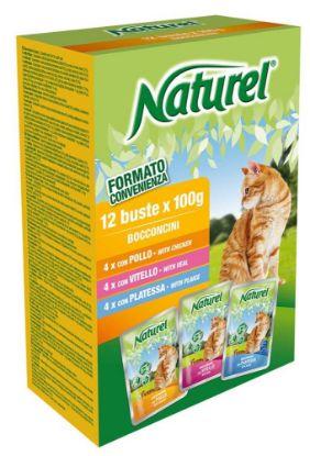 Obrázek Naturel Cat Chicken, Veal, Plaice, kapsička 100 g (box 12 ks)