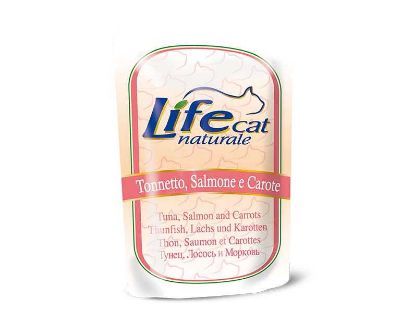 Obrázek LifeCat Tuna & Salmon & Carrots kapsička 70 g