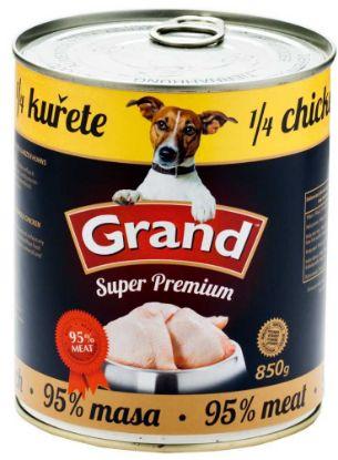 Obrázek GRAND Superpremium Dog kuřecí s 1/4 kuřete 850 g