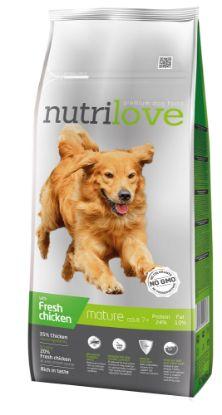 Obrázek Nutrilove pes Mature fresh kuřecí, granule 12 kg
