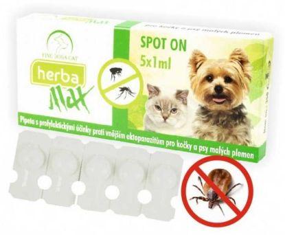 Obrázek Max Herba Spot-on Dog & Cat antiparazatiní kapsle, pes a kočka 5 x 1 ml