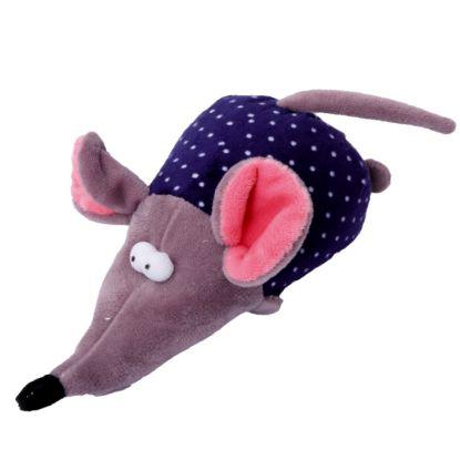 Obrázek Hračka pes - plyšová myš pískací 17 cm