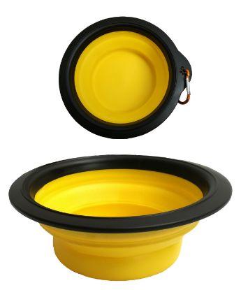 Obrázek Skládací silikonová miska L s karabinou
