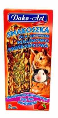 Obrázek Tyčinka s malinami a jahodami hlodavec Dako (2 ks)