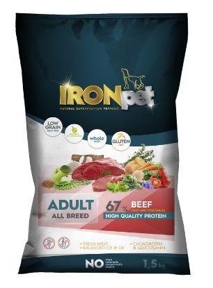 Obrázek IRONpet Dog Adult All Breed Beef (Hovězí) 1,5 kg