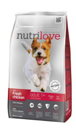 Obrázek Nutrilove pes Adult Small fresh kuřecí, granule 1,6 kg