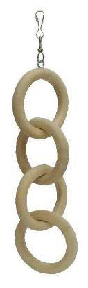 Obrázek Hračka pták - dřevěný řetěz, 4 oka