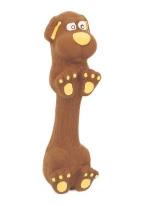 Obrázek Latexová hračka s pískadlem - jezevčík malý 13 cm