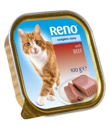Obrázek RENO Cat hovězí se zeleninou, vanička 100 g