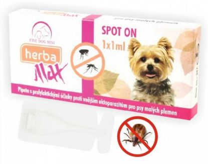 Obrázek Max Herba Spot-on Dog antiparazatiní kapsle, pes do 15 kg  1 x 1 ml