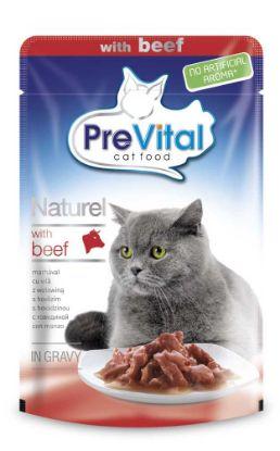 Obrázek PreVital Naturel hovězí, kapsa 85 g