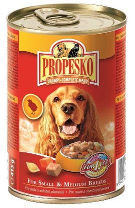 Obrázek PROPESKO Dog kuřecí s mrkví a těstovinami, kousky 415 g
