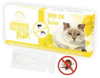 Obrázek Max Herba Spot-on Cat antiparazatiní kapsle, kočka 1 x 1 ml