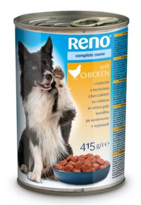 Obrázek RENO Dog kuřecí, kousky 415 g