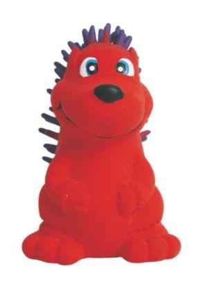 Obrázek Latexová hračka s pískadlem - červený ježek 7,5 cm