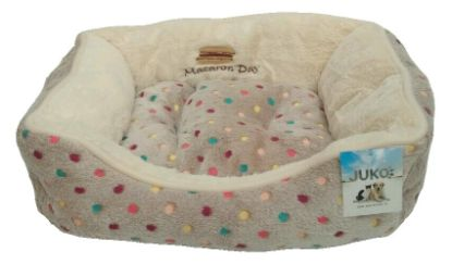 Obrázek Pelíšek s puntíky Extra soft Bed šedá M 75 cm