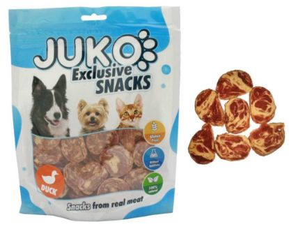 Obrázek JUKO SNACKS Duck & Codfish chips 250 g