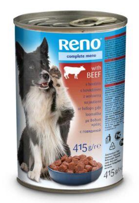 Obrázek RENO Dog hovězí, kousky 415 g