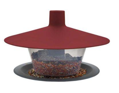 Obrázek Krmítko venkovní Finch talíř vínová