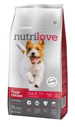Obrázek Nutrilove pes Adult Small fresh kuřecí, granule 8 kg