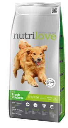 Obrázek Nutrilove pes Mature fresh kuřecí, granule 3 kg