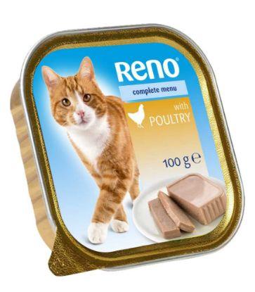 Obrázek RENO Cat drůbeží se zeleninou, vanička 100 g