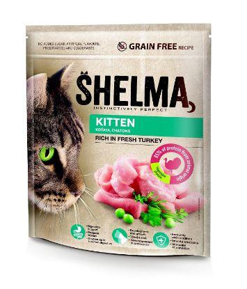 Obrázek SHELMA Cat Kitten Freshmeat Turkey GF 750 g