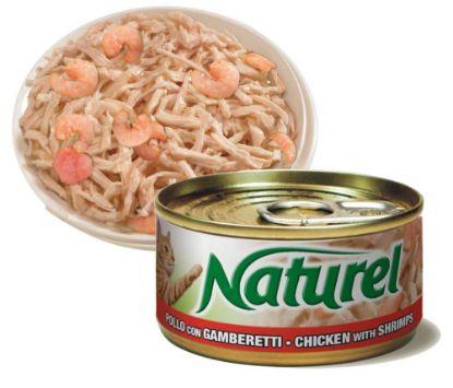 Obrázek Naturel Cat Chicken with Shrimps, konzerva 70 g