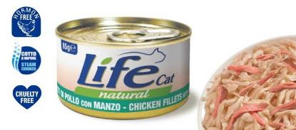Obrázek LifeCat Chicken with Beef 85 g