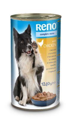 Obrázek RENO Dog kuřecí, kousky 1240 g