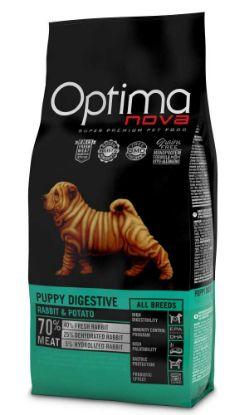 Obrázek OPTIMAnova Dog Puppy Digestive Rabbit & Potato GF12 kg