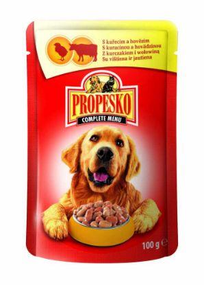Obrázek PROPESKO Dog hovězí a kuřecí, kapsa 100 g
