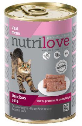 Obrázek Nutrilove kočka telecí paté 400 g