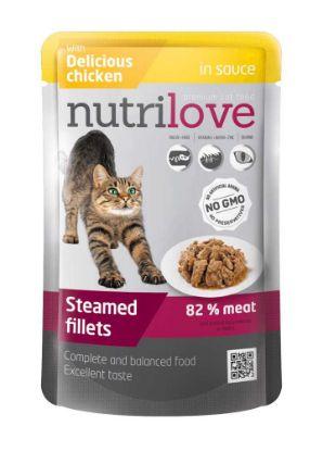 Obrázek Nutrilove kočka kuřecí ve šťávě, kapsička 85 g