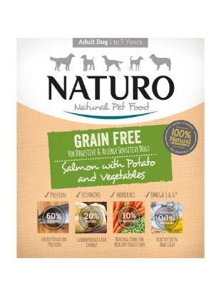 Obrázek Naturo Dog Salmon & Potato with Vegetable GF 400 g