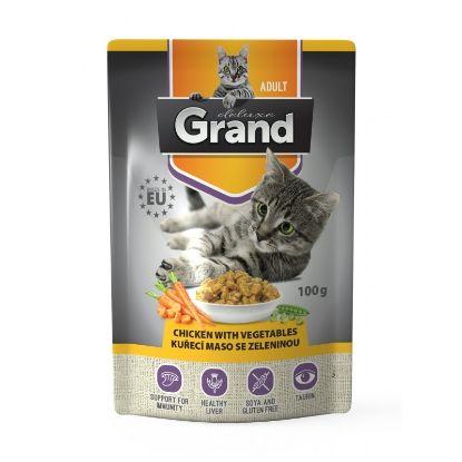Obrázek Grand deluxe Cat kuřecí maso se zeleninou 100 g