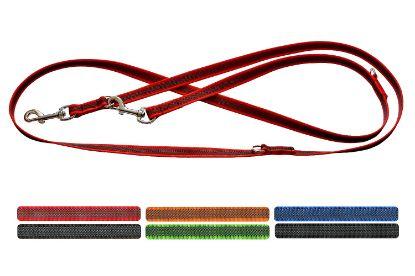 Obrázek Vodítko popruh přepínací s gumovou nití, různé dekory 2 x 120/150/210 cm
