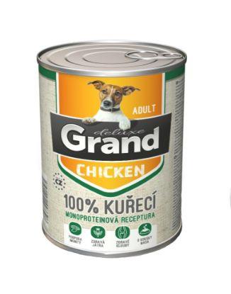 Obrázek Grand deluxe Dog Adult 100% kuřecí 820 g